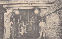 1908  Montceau Les Mines  Puits Magny  Arrivée De La Cage Au Fonds  Recette 360  Vers Asfeld  / Rethel - Montceau Les Mines