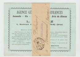 CàD IMPRIMES  PP 4 De PARIS 118 / Carton Publicitaire De Stains De 1905 - Postmark Collection (Covers)