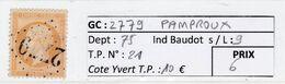GC 2779 PAMPROUX ( Dept 75 )  S / N° 21 - 1849-1876: Classic Period