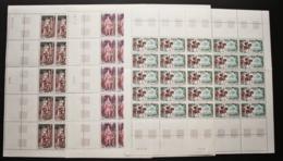 FRANCE ANNEE 1966 N° 1495 A 1497 NEUFS** EN FEUILLES DE 25 EX MNH - Unused Stamps