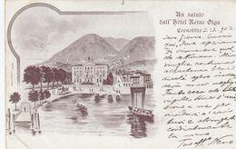 CERNOBBIO-COMO-UN SALUTO DALL'HOTEL=REINE OLGA=-CARTOLINA  VIAGGIATA IL 3-9-1902 - Como