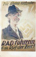 DC345 - WW2 Germany Propaganda Deutschland 2. Weltkrieg - R.A.D. - Führerin Ein Ruf Der Zeit REPRO - War 1939-45