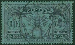 NEW HEBRIDES VANUATU 1925 KGV 2s (2.50 Fr.) Purple/blue Used SG 50 - Used Stamps