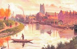 62 - SAINT OMER / LE CANAL ET LE QUAI DU COMMERCE Par FRED MONEY - Saint Omer