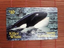 Prepaidcard Fish Killer Whale Used 2 Scans Rare - Vereinigte Staaten