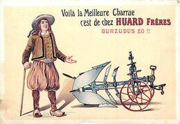 Themes Div-ref FF319- Publicité Agricole - Agriculture - Charrues - Charrue Huard Freres - Bretagne -breton -burzudus Eo - Publicidad