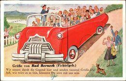 ! Bayern, Leporello Ansichtskarte, Bad Berneck, Bus, Carte A Systeme, Nachgebühren - Altri
