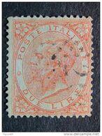 """ITALIA Regno -1866- """"Effigie, Torino"""" £. 2 US° (descrizione) - Gebraucht"""