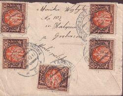 POLAND 1923 Inflation 23.III.23 (500 Mk) Dabrowa Tarnowa - Briefe U. Dokumente