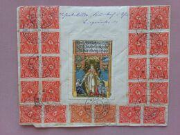 GERMANIA REICH 1923 - Busta Maxi Affrancata Con Erinnofilo + Spese Postali - Germany