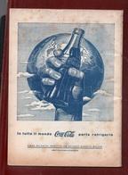 COCA COLA PUBBLICITA' ADVERTISING : IN TUTTO IL MONDO COCA COLA PORTA REFRIGERIO - RIVISTA VITA E PENSIERO DICEMBRE 1953 - Books, Magazines, Comics