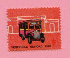 1978 VENEZUELA Navidad Bus Campagna Tubercolosi TBC Cindarella Vignetta Erinnofilo - Nuovo - Busses
