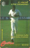 St. Vincent & The Grenadines - GPT, 243CSVA, Cameron Cuffy, Cricket, Sports, 15.000ex, 10 EC$, 1998, Used - St. Vincent & Die Grenadinen