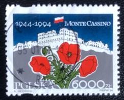 Polska - Poland - P2/59 - (°)used - 1994 - Michel Nr. 3488 - 50 Jaar Verovering Van Monte Cassino - 1944-.... Republic