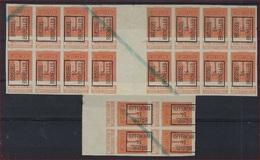 ONGETAND  Nr. 108 Voorafgestempeld Nr. 45B BRUSSEL 14 BRUXELLES In Blokken O.a. Met Bladboorden En Tussenpaneel ! - Vorfrankiert