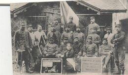 CPA  GROUPE DE MILITAIRES A GIRMONT  AU CENTRE JOSEPHINE TIRIOT - Frankreich