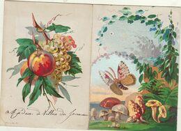 1875 Menu Illustré Pour De Villers Du Fourneau - Menus