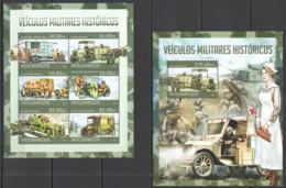 ST2624 2013 MOZAMBIQUE MOCAMBIQUE WORLD WAR HISTORICAL MILITARY VEHICLES KB+BL MNH - Militaria