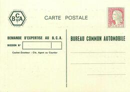 ENTIER POSTAL TSC Marianne De Decaris  Bureau Commun AUTOMOBILE - Entiers Postaux