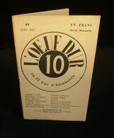( Poésie Littérature ) Revue L'OEUF DUR Numéro 10 1922 Max JACOB Pascal PIA Mathias LÜBECK André SPIRE - Franse Schrijvers