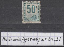 France Colis Postaux (1948-54) Petits Colis Y/T N° 30 Oblitéré - Paketmarken