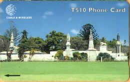 Tonga - TON-08b, GPT, 323CTGC (b), Royal Tombs (Old Logo), Monuments, 10T$, %12.000ex, 1999, Used - Tonga