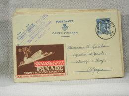 BELGIQUE - EP PUBLIBEL 490 HEUDEBERT'S PANADE (NE) - OBLITERE AALST2A RONDE SUR 50c 1943 - Werbepostkarten