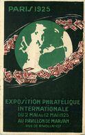 ENTIER POSTAL CARTE POSTALE PARIS  Exposition  Philatelique 2 Mai / 12 Mai 1925  (voyagée Durant L'exposition ) - Overprinter Postcards (before 1995)