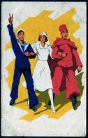 Guerre 1939 1945 Patriotisme Marin Spahi Infirmière Bleu Blanc Rouge NC TB V Explic - Patriotic