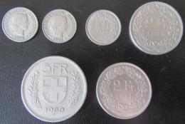Suisse - Lot De 6 Monnaies Entre 1898 Et 1988 - Achat Immédiat - Zwitserland