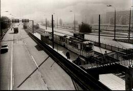 ! DDR Ansichtskarte, Potsdam, Straßenbahn, Tram, Haltestelle, Bruno Baum Straße - Potsdam