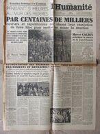 Journal L'Humanité (11 Juin 1946) Hommage à La Commune - Pensée Libre - Plaidoyer Pour L'Allemagne - Zonder Classificatie