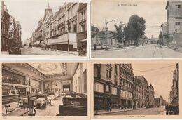 4 CPA:REIMS (51) BRASSERIE LA COUPOLE RESTAURANT,RUE DE VESLE (glacée),RUE CARNOT,RUE SIMON - Reims