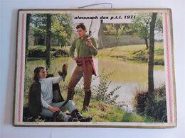 3 X   Double Calendrier Oller Almanach Des PTT 1971/1972/1973 - Big : 1971-80