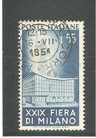 ITALIE - N°596 - 55 Lires Bleu - 29e  Foire De MILAN 1951. Oblitération Du 16 VIII 1951. TB. - 1946-60: Used