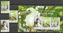 COCOS ISLANDS, 2020, MNH, BIRDS, BOOBY BIRDS, 3v+SHEETLET - Andere