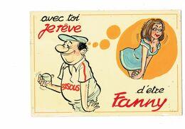 Cpm HUMOUR BOULES PÉTANQUE - Illustration Femme Pin'up Joueur Je Rêve D'être Fanny - Humor