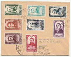 France - Lettre Série Célébrités N° 795-802 Oblitérations Journée Du Timbre  1952 - Briefe U. Dokumente