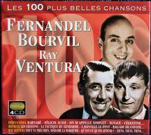 Les 100 Plus Belles Chansons - Fernandel - Bourvil - Ray Ventura - Coffret 4 CD . - Comiques, Cabaret