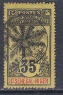Haut-Sénégal N° 10 O  Type  Palmiers  : 35 C.  Noir Sur Jaune Oblitération Moyenne Sinon TB - Non Classés