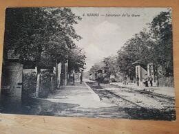 Cpa Rians Intérieur De La Gare - Rians