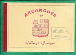 Pochette Vide De Cartes Postales Arcangues (64) 1150 Village Basque Avec Texte Au Verso 2scans - Supplies And Equipment