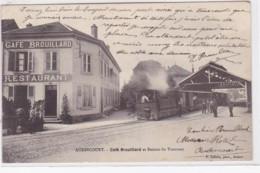 AUDINCOURT : Café Brouillard Et Station Du Tramway - Très Bon état - Sonstige Gemeinden