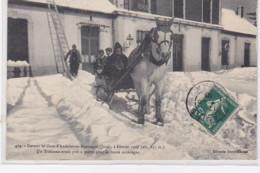 ANDELOT En MONTAGNE : Un Traineau Devant La Gare En 1907 - Très Bon état - Andere Gemeenten