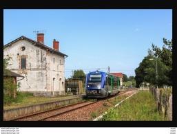 19  AIX  La  MARSALOUSE ....  La Gare Avec Train - Andere Gemeenten
