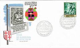 37637. Carta BARCELONA 1966. XXXIV Feria Barcelona. Viñeta, Label - 1931-Aujourd'hui: II. République - ....Juan Carlos I