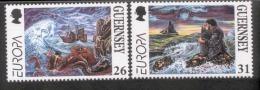 CEPT Sagen Und Legenden / Legends - Mythes Guernsey 734 - 735 ** Postfrisch, MNH, Neuf - 1997