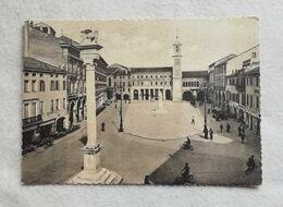 Cartolina Illustrata Rovigo - Piazza Vittorio Emanuele, Viaggiata Per Imola 1957 - Rovigo