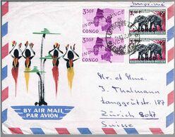 Republique Du Congo, 1966, Leopoldville-Zurich - Republic Of Congo (1960-64)