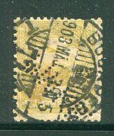 HONGRIE- Y&T N°43 (A)- Oblitéré Et Perforé (très Belle Oblitération!!!) - Hungría